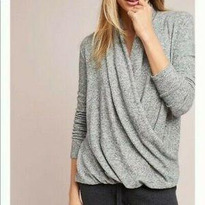 Anthropologie Wrap Sweater